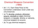 chemical weapons convention 1993