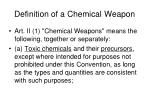 definition of a chemical weapon