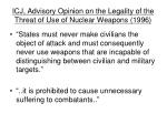 icj advisory opinion on the legality of the threat of use of nuclear weapons 1996