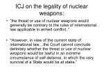 icj on the legality of nuclear weapons