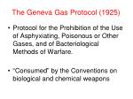 the geneva gas protocol 1925
