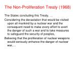 the non proliferation treaty 1968