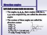 direction angles