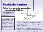 rotation of u to yz plane1