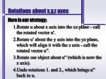 rotations about x y z axes