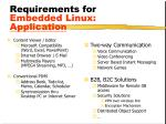 requirements for embedded linux application