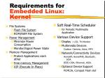 requirements for embedded linux kernel