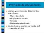 provisi n de documentos