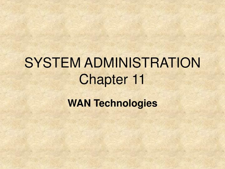 system administration chapter 11 n.