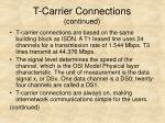 t carrier connections continued