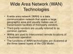 wide area network wan technologies