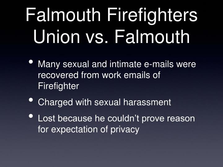 Falmouth Firefighters Union vs. Falmouth