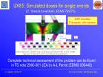 ux85 simulated doses for single events