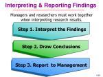 interpreting reporting findings