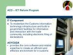acd ict reform program
