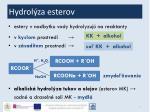 hydrol za esterov