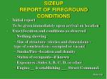 sizeup report of fireground conditions1