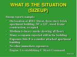 what is the situation sizeup