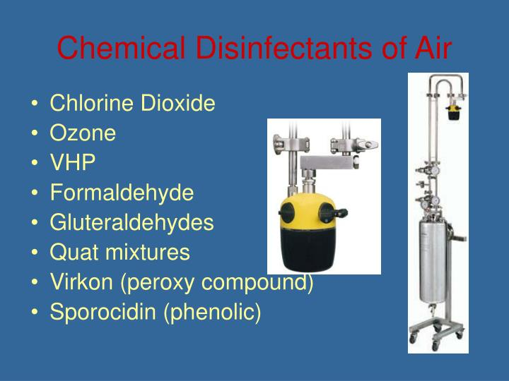 Chemical Disinfectants of Air