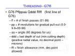 threading g762