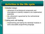 activities in the life cycle1