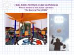 1998 2003 avatars cyber conferences annual festival of the avatar commons the burning man of bits