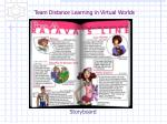 team distance learning in virtual worlds