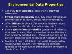 environmental data properties