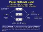 major methods used