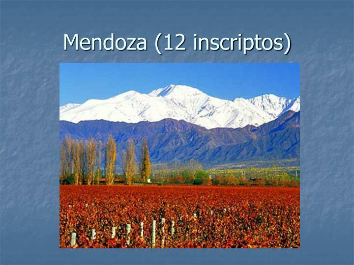 Mendoza (12 inscriptos)