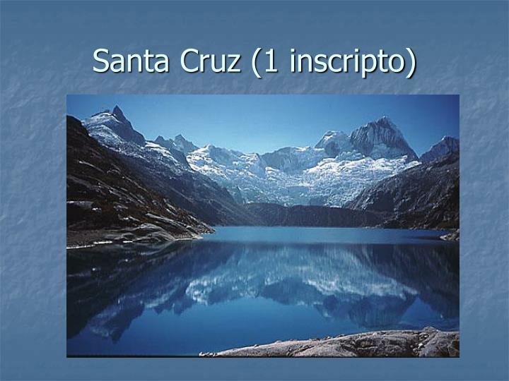 Santa Cruz (1 inscripto)