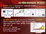 c c like example x 3872