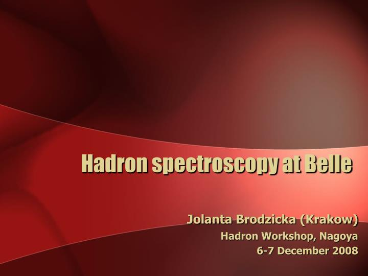 Hadron spectroscopy at Belle
