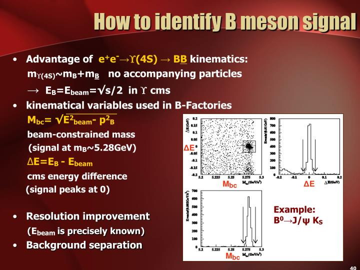 How to identify B meson signal