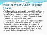 article vi water quality protection program
