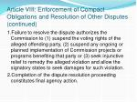 article viii enforcement of compact obligations and resolution of other disputes continued1
