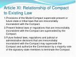 article xi relationship of compact to existing law