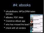 4 ebooks