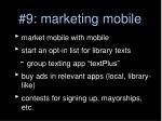 9 marketing mobile