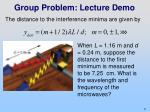 group problem lecture demo