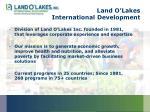 land o lakes international development