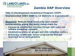 zambia dap overview