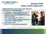 zambia dap value chain approach
