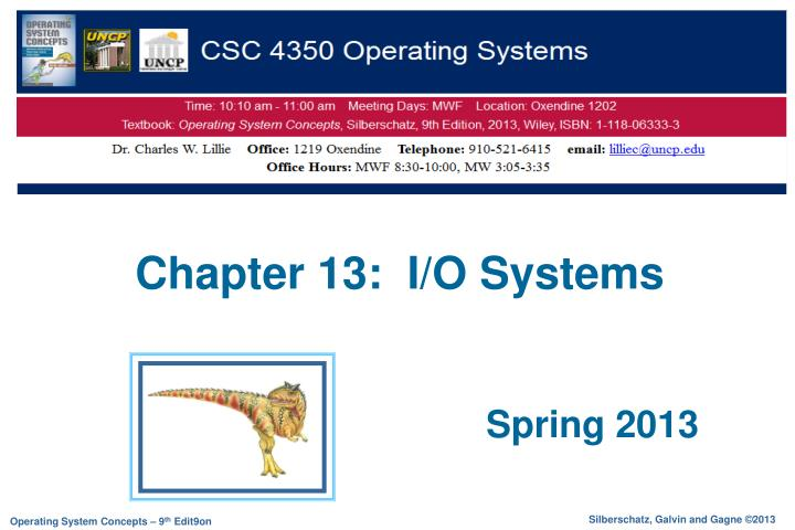 chapter 13 i o systems n.