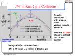 j y in run 2 p p collisions
