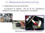 2 3 mantenimiento del interior de la caja4