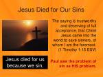 jesus died for our sins1