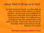 jesus died to bring us to god1
