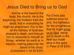 jesus died to bring us to god2