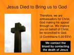 jesus died to bring us to god3